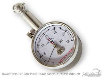 Picture of Mustang Tire Pressure Gauge with Classic Mustang Logo and Case. : TG-2
