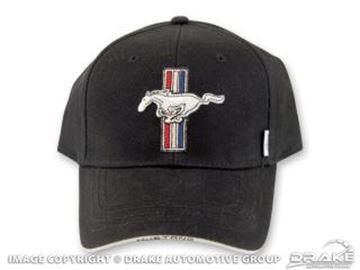 Picture of Mustang Tribar Logo Hat, black : HAT-197-BLACK