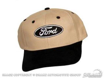 Picture of Ford Oval Logo Hat (Black & Tan) : HAT-F-BLK