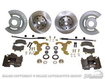 Picture of Disc Brake Conversion Kit (V8, single piston calipers, will not fit original 14'x5' standard steel rims) : DBC-6569-SC