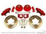Picture of Disc Brake Conversion Kit (Big Brake Kit, 5 lug, 4-piston calipers, slotted rotors, steel braided brake lines, requires 17' wheels) : DBC-6573-BBK17