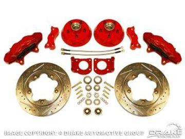 Picture of Disc Brake Conversion Kit (Big Brake Kit, 5 lug, 4-piston calipers, slotted rotors, steel braided brake lines, requires 17' wheels) : DBC-6573-BBK17