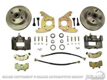 Picture of Disc Brake Conversion Kit (6 Cylinder, 4 lug, single piston calipers, will not fit original 14'x5' standard steel rims) : DBC-6769-6