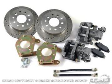 Picture of Rear Disc Brake Conversion Kit (Drilled and slotted rotors) : DBC-REAR-RACE