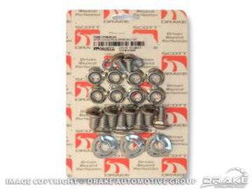 Picture of 1964-70 Mustang Bumper Bolt Kit (deluxe 28 piece kit) : C5ZZ-17758-DLXK