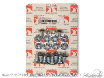 Picture of 1969-70 Mustang Bumper Bolt Kit (Concours, standard 20 piece kit) : C9ZZ-17758-K