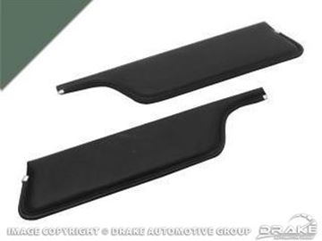 Picture of 67-68 Convertible Sun Visors (Ivy Gold) : C7ZZ-7604104-IG