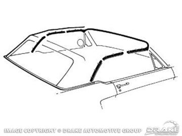 Picture of 1964-68 Mustang Convertible Top Seal Kit : C5ZZ-7653986-K