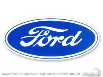 Picture of 3 1/2' Ford Blue Oval Decal : DF-361