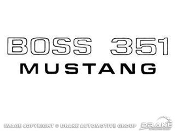 Picture of 1971 Boss 351 Fender Decal (Black) : DF-505