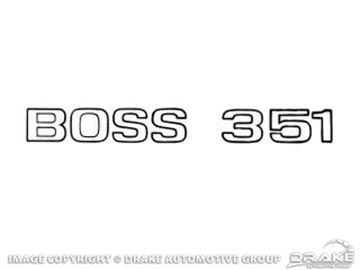 Picture of 1971 Boss 351 Trunk Decal (Black) : DF-507
