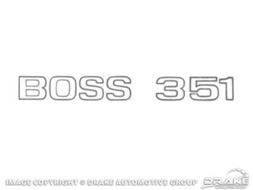 Picture of 1971 Boss 351 Trunk Decal (Argent) : DF-508