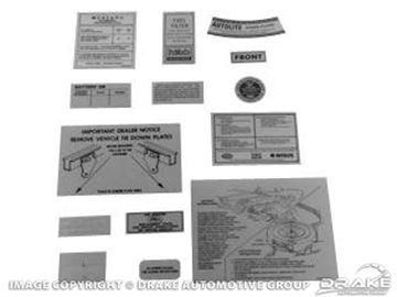 Picture of 14 Piece Decal Kit : DK-25