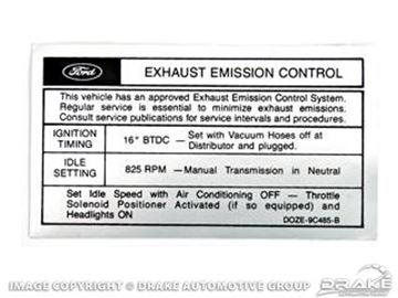Picture of Boss 302 Emission Decal (Late 1970) : DF-344
