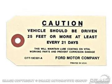Picture of Caution Driven Instruction Tag : DF-208