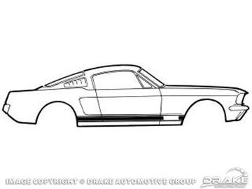Picture of 1967 GT Stripe Kit (Black) : C7ZZ-6520000-A