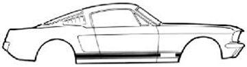 Picture of 1967 GT Stripe Kit (White) : C7ZZ-6520000-B