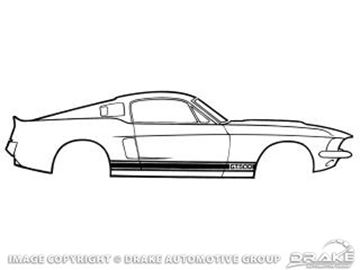 Picture of 1965 Shelby GT350 Stripe Kit (Blue) : S1MS-16224-B