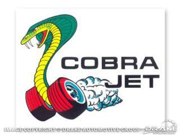 Picture of Cobra-Jet Window Decal : DF-393