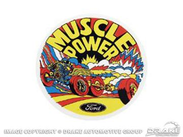 Picture of Muscle Power Inside Window Decal : DZ-113