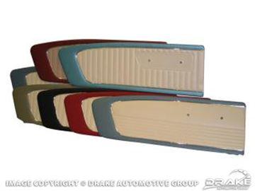 Picture of 1966 Door Panels, (Black/White Pair) : C6ZZ65239423BKW
