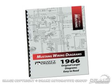 Picture of 1966 Mustang Wiring Diagram Manual (Large Format) : MP-2-P