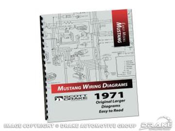 Picture of 1971 PRO Wiring Diagram Manual (Large Format) : MP-7-P