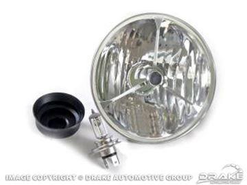 Picture of 65-68 & 70-73 Tri-Bar Halogen Headlamp (Clear) : C5ZZ-13007-CLR