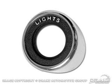 Picture of 69 Headlight Switch Bezel : C9ZZ-10852-L