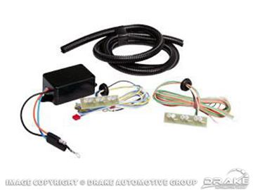 Picture of 1967-68 Mustang Sequential Turn-Signal Hood Lights : C7ZZ-SHL