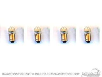 Picture of 1964-68 Mustang Instrument Panel LED Replacement Bulbs (White 1895, set of 4) : SD-1895
