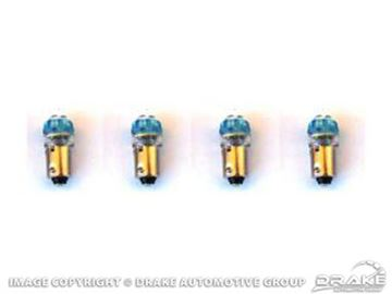 Picture of 1964-68 Mustang Instrument Panel LED Replacement Bulbs (Blue 1895, set of 4) : SD-1895-BL