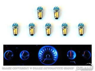 Picture of 1965-66 Mustang Instrument Panel LED Light Bulb Set (5-Gauge Cluster) : SD-66-GA-BL