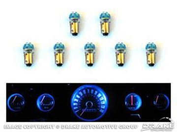 Picture of 1965-66 Mustang Instrument Panel LED Light Bulb Set (5-Gauge Cluster) : SD-66-GA-BL