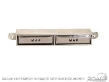 Picture of 67-68 Overhead Console Map Light Buttons : C7ZZ-13764-B