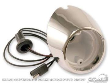 Picture of 67-68 Backup Lamp Housing (LH) : C7ZZ-15512-BR