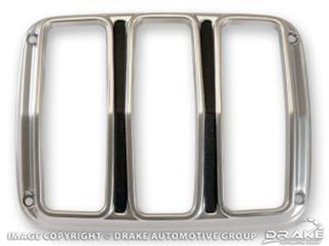 Picture of 64-66 Tail Light Bezels (Satin, Pair) : C5ZZ-13489-S