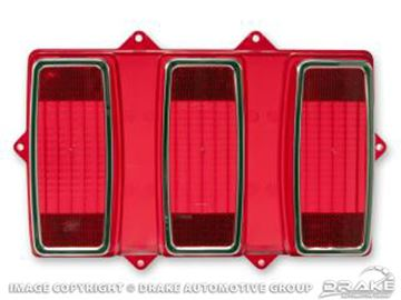 Picture of 69 Tail Light Lens (with Stainless Trim) : C9ZZ-13450-A