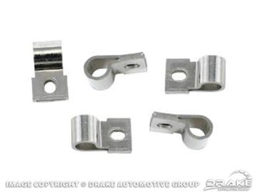Picture of Underhood Turn Signal Harness Clips (Chrome) : 377774-C