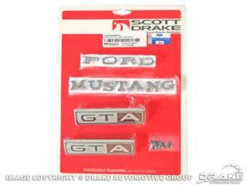 Picture of 1967 Emblem Kit GTA (All bodystyles 8 Cylinder Auto-Trans) : C7ZZ-6540282GTA