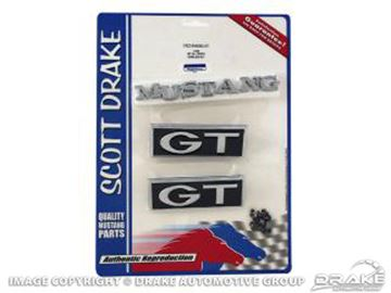 Picture of 1968 Emblem Kit GT (All bodystyles) : C8ZZ-6540282-GT