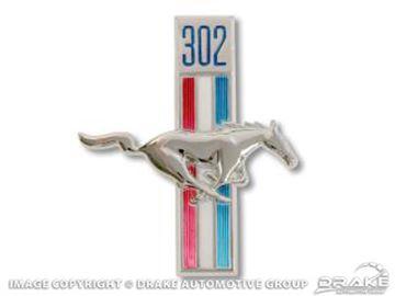 Picture of 1968 302 Running Horse Fender Emblem (RH) : C8ZZ-16228-A