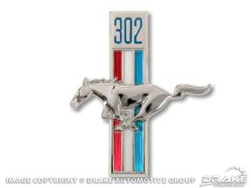 Picture of 1968 302 Running Horse Fender Emblems (LH) : C8ZZ-16229-A