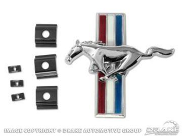 Picture of 1966 Shelby Grill Emblem and Retainers : S2MS-8202-K