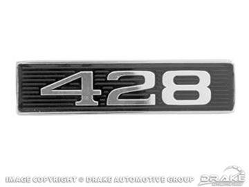 Picture of 1969 428 Hood-Scoop Emblem : C9ZZ-16637-B