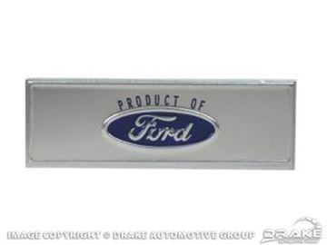 Picture of 68-73 Door Sill Scuff Plate Emblem (Blue) : C8ZZ-6513208-T