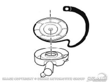 Picture of Air Cleaner Lid Gaskets (68-73 289, 302, 351 1967 390) : C8ZZ-9673