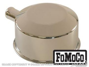 Picture of 65-66 Oil Cap with Tube (FoMoCo logo, Chrome) : C5ZZ-6766-D