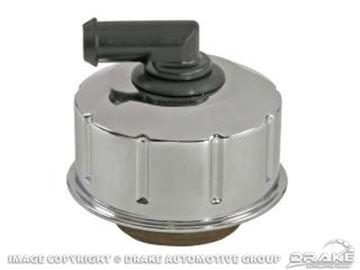 Picture of 68-70 Chrome oil cap w/o logo : C8AZ-6766-BR