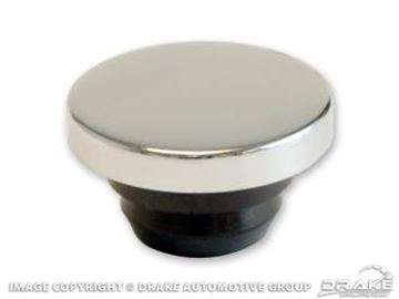 Picture of Aftermarket Oil Caps (Chrome Push On, 'OIL' Embossed on Top (No Grommet Required)) : W89181B